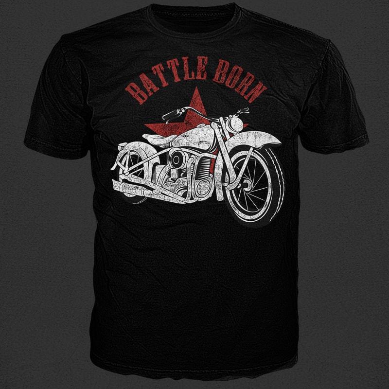 Battle Born tshirt designs for merch by amazon