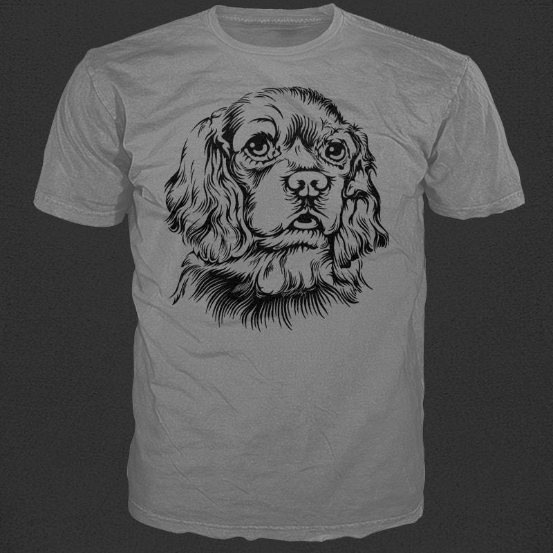 Cute Dog tshirt designs for merch by amazon
