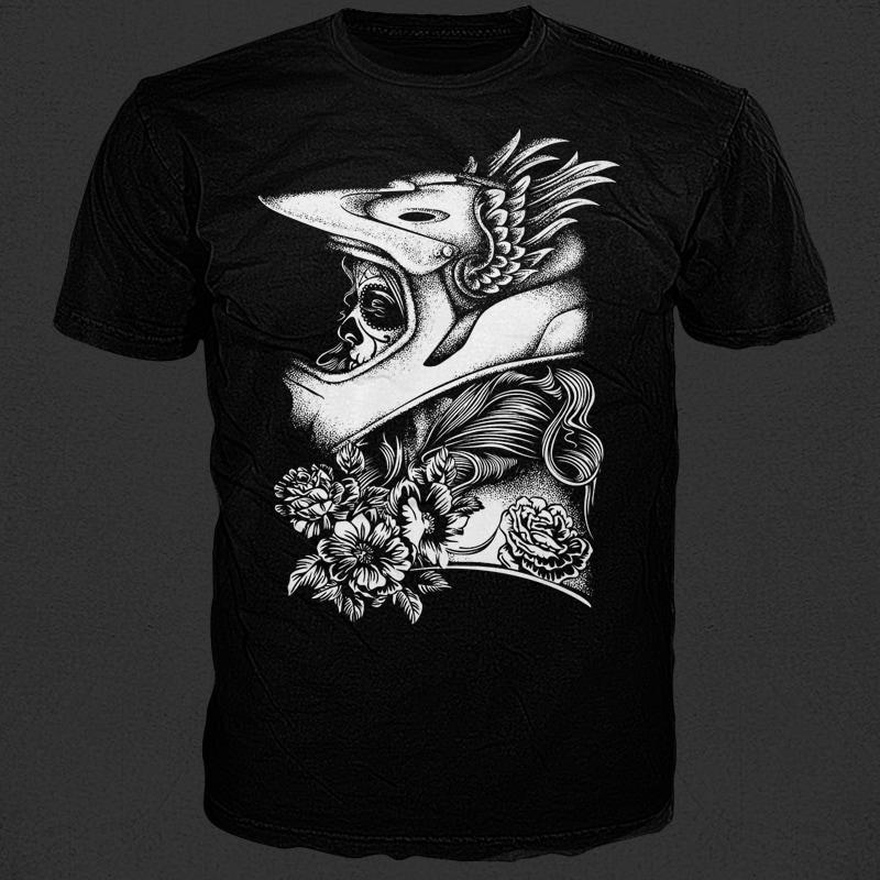 Biker Girl tshirt designs for merch by amazon