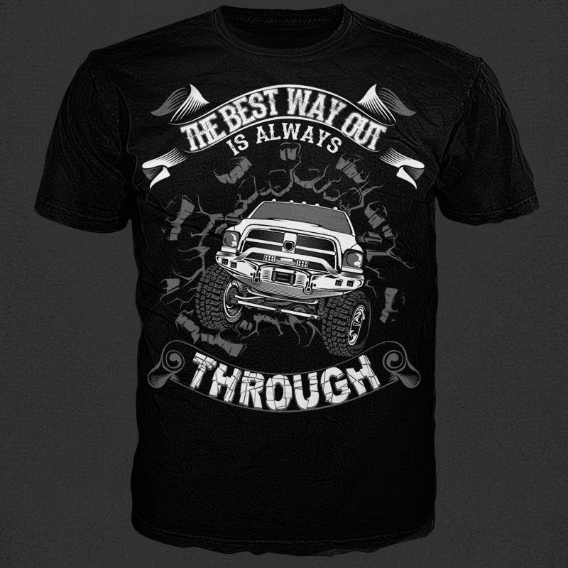 Through t shirt designs for printful