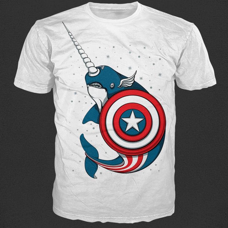 Captain Narwhal buy tshirt design