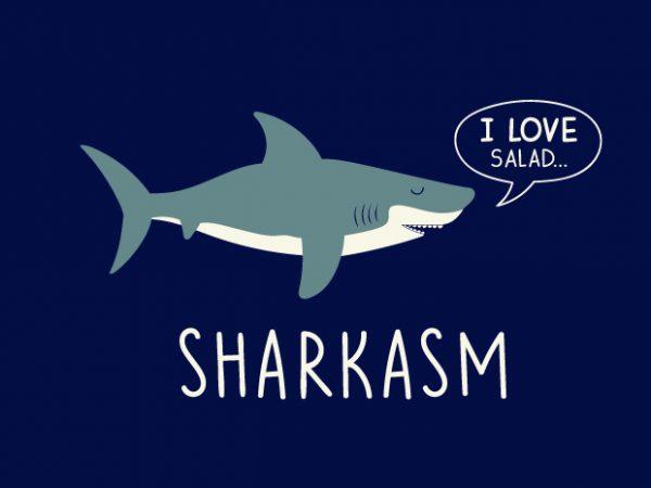 Sharkasm t shirt template vector