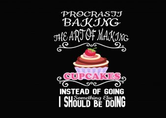 Caupcakes commercial use t-shirt design