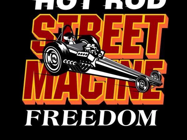 STREET MACHINE vector t-shirt design template
