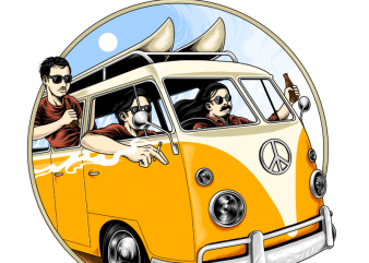 summer traveler t shirt design for download