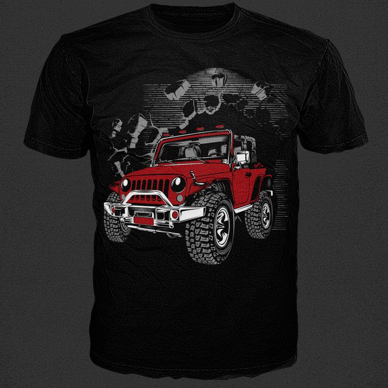 Through wall t shirt design png