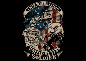 US soldier t shirt design png