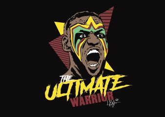 The Ultimate Warrior graphic t-shirt design
