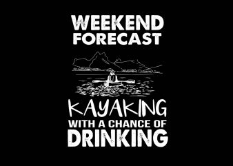 Weekend Forecast vector t-shirt design template