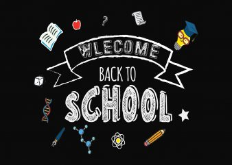 Welcome Back To School t shirt design for sale