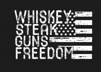 Whiskey Steak Gun t shirt design for sale