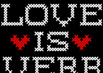 Love is a verb vector t-shirt design for commercial use