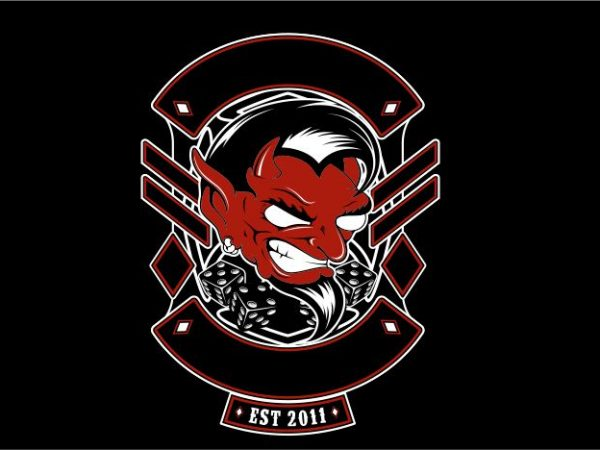 Human Devil vector t-shirt design for commercial use