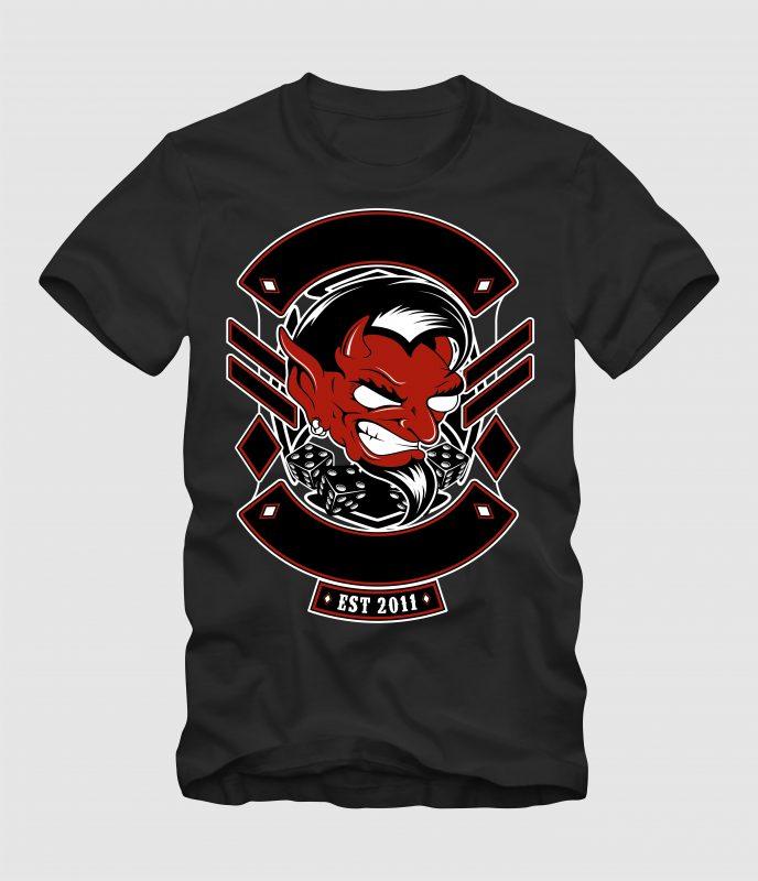 Human Devil t shirt designs for merch teespring and printful