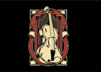 The Violin buy t shirt design