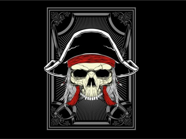 Captain Pirates t shirt vector file