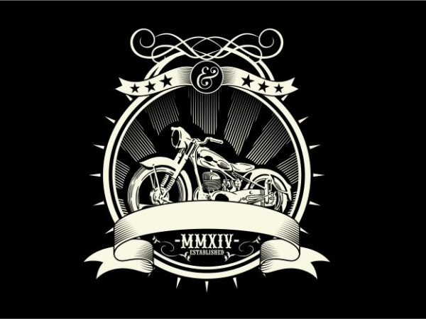 Motorcycle t shirt designs for sale
