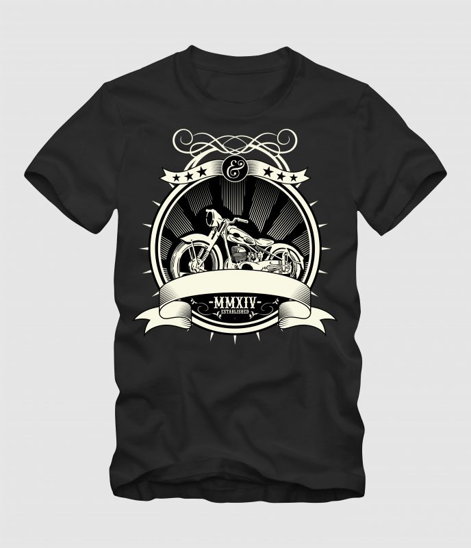 Motorcycle t-shirt designs for merch by amazon