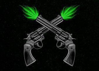 twin pistols Graphic t-shirt design