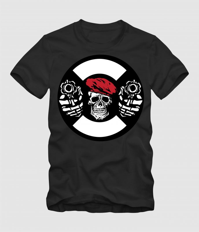 Dual Pistol t-shirt designs for merch by amazon