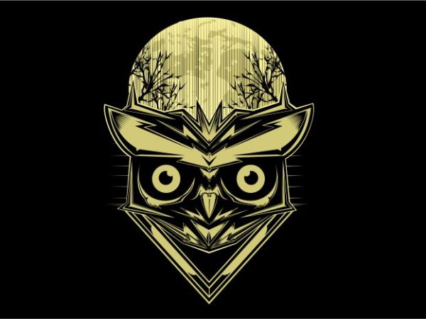 Owl in The Night t shirt design online