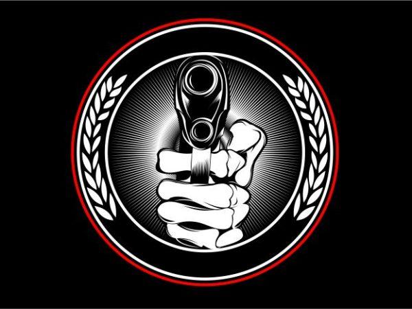 Hand Gunner graphic t shirt