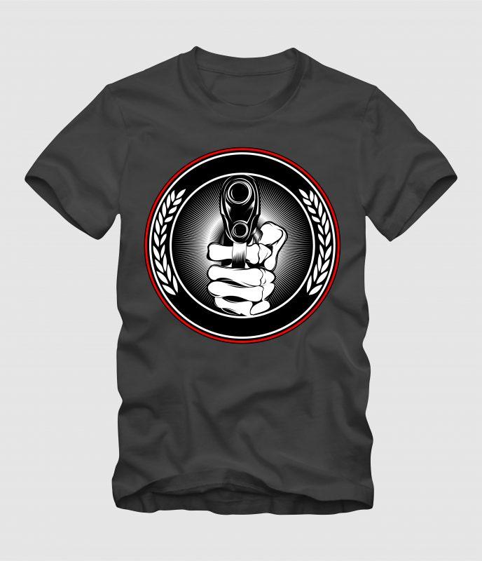 Hand Gunner buy tshirt design