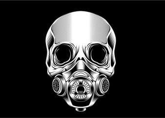 Skull with Mask t shirt template vector