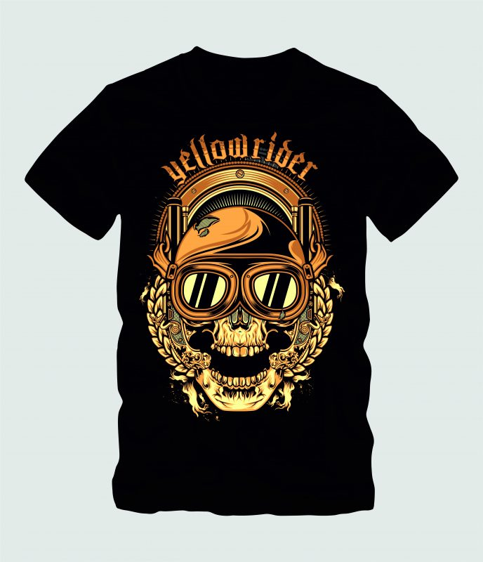 Yellow Rider buy tshirt design