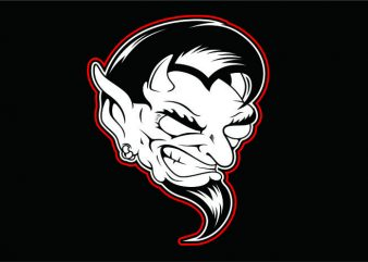 Evil Black White vector clipart