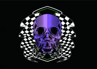 Racing Skull t shirt design online