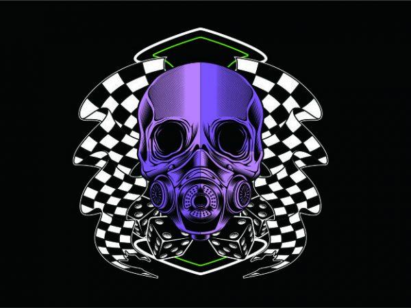 Racing Skull t shirt design online