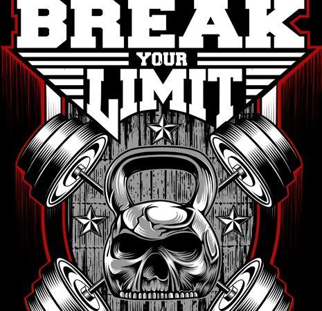Break Your Limit vector t shirt design artwork