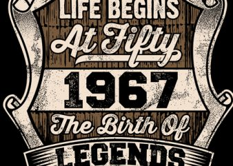 Life Begins At Fifty commercial use t-shirt design