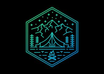Adventure Camp tshirt design vector