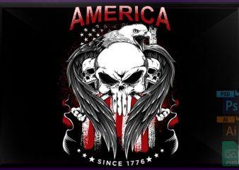 America 1776 t shirt design png