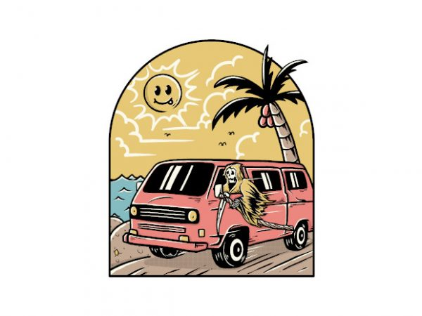 Vacation graphic t-shirt design