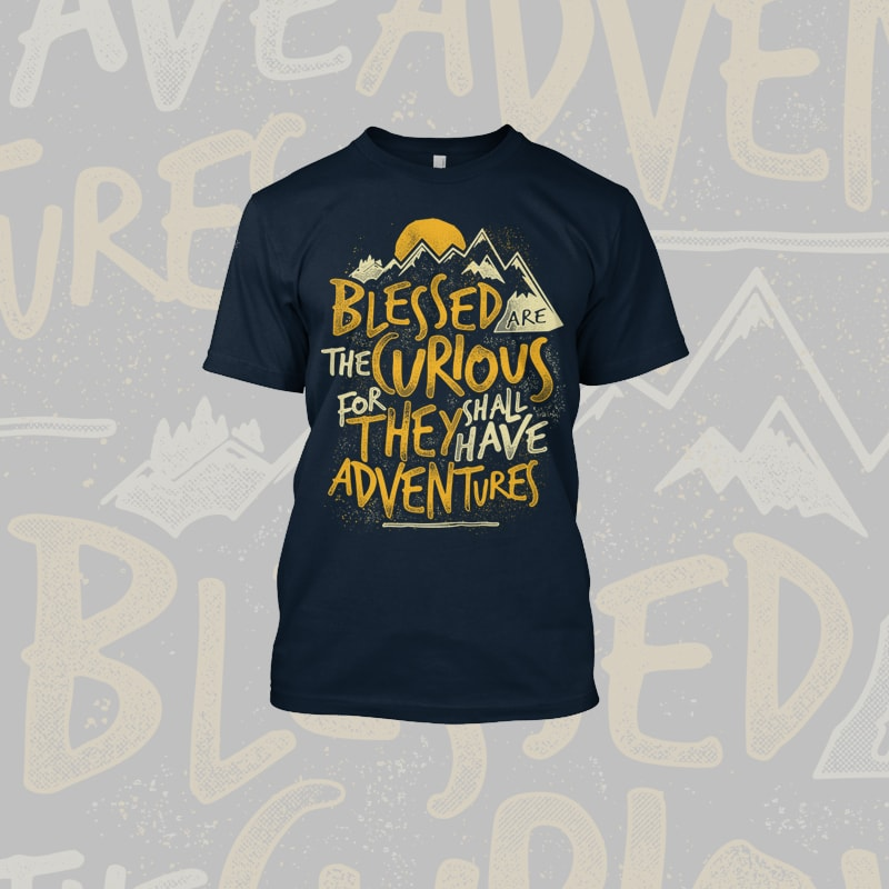 Blessed Adventures t shirt designs for sale