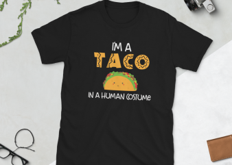 Taco png – I'm a taco in a human costume t shirt designs for sale