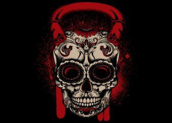 Kettle Bell Candy t shirt vector art