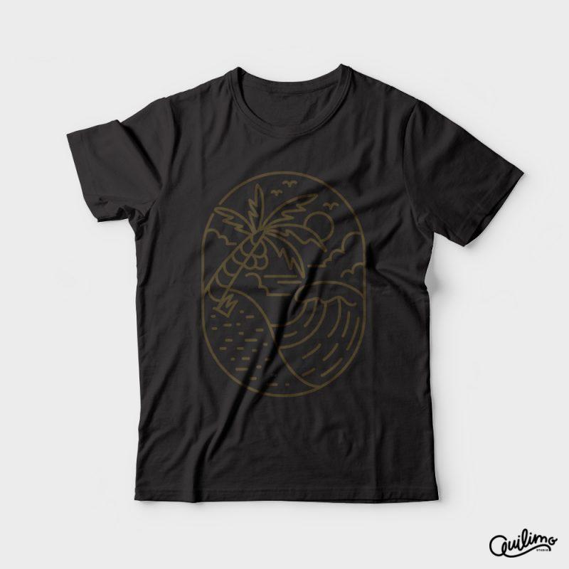 Great Wave vector shirt designs