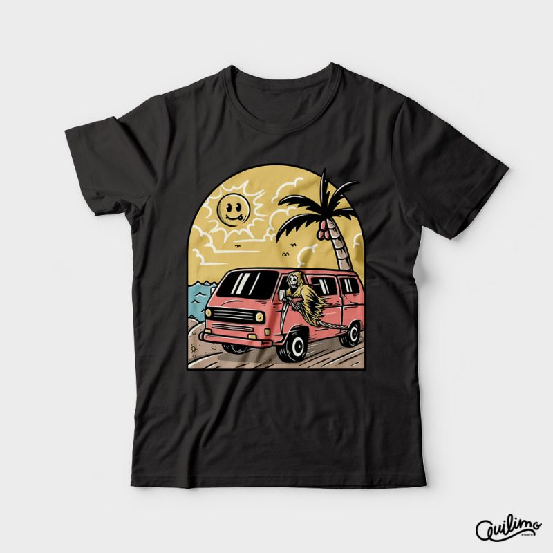 Vacation t shirt designs for print on demand