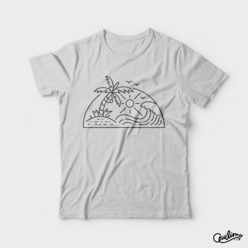 Sun & Wave vector shirt designs
