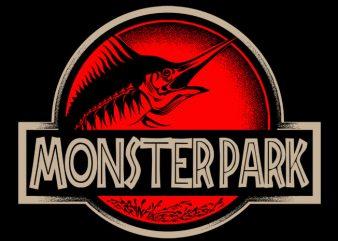 Monster Park vector t-shirt design template