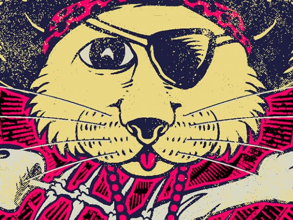 Pirate Cat buy t shirt design artwork