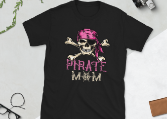 Pirate png – Pirate Mom t shirt illustration