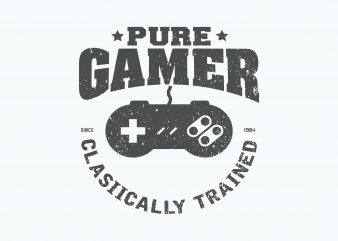 Pure Gamer t shirt illustration