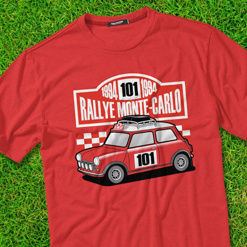 RALLY t shirt designs for merch teespring and printful