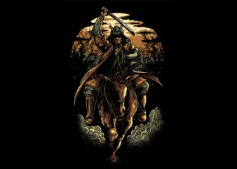 Samurai Colored Version vector shirt design