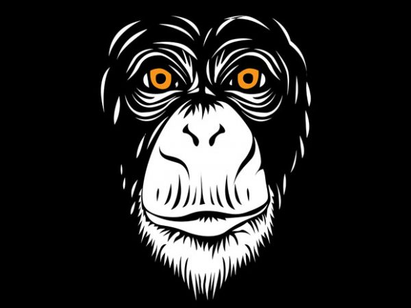 Sarkowi the Monkey vector t shirt design for download